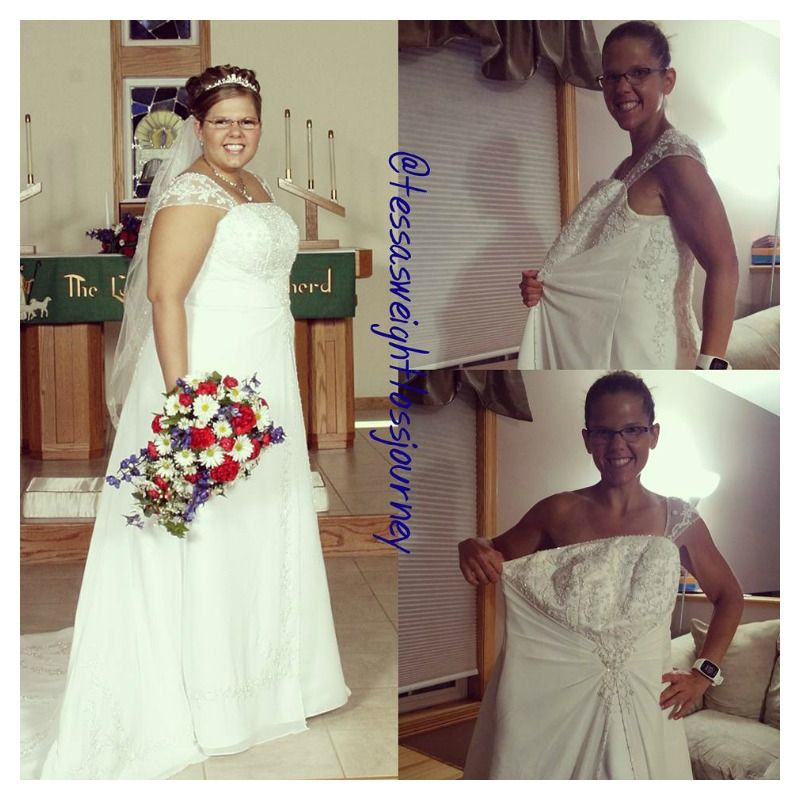 12 Before-and-After Weight Loss Wedding Dress Photos That
