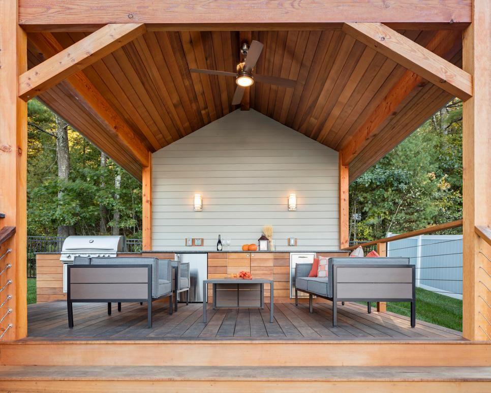 Outdoor Küche Beleuchtung : Gartenküche gestalten trendige ideen Überdach holz bodenbelag sitz