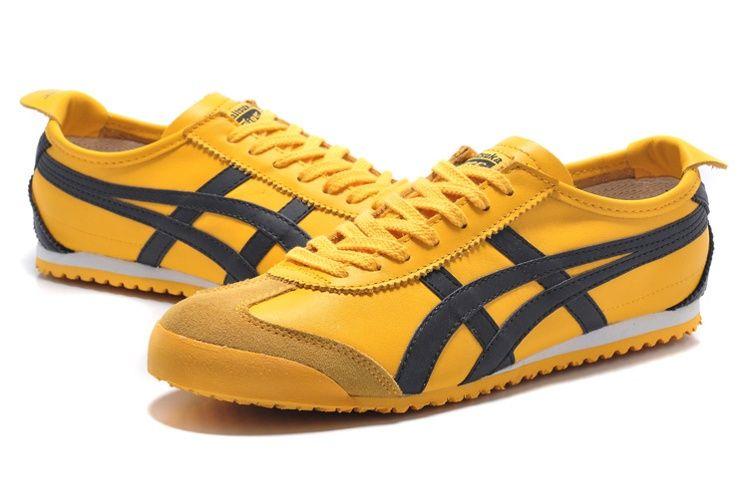 asics onitsuka tiger mexico 66 black yellow zapatillas womens