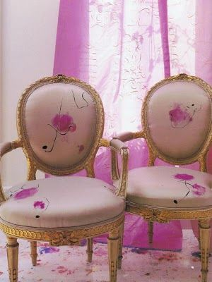 I've loved these for years and years - gorgeous old chairs from Carolyn Quartermaine's original book...
