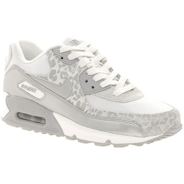 Nike Gray Air Max 90 08 Silver Leopard Trainers