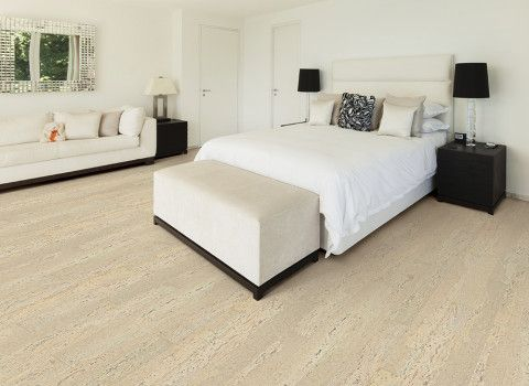 Cork Deco Narrow Plank Collection Salon Dulsa White Bedroom