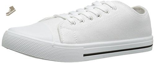 Qupid Women's Narnia-01 Fashion Sneaker, White Canvas, 8 M US - Qupid sneakers for women (*Amazon Partner-Link)