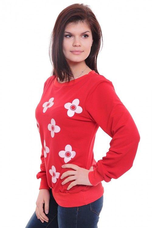 Джемпер А3128 Размеры: 42,44,46,48,50 Цвет: красный Цена: 525 руб.  http://optom24.ru/dzhemper-a3128/  #одежда #женщинам #кофты #оптом24