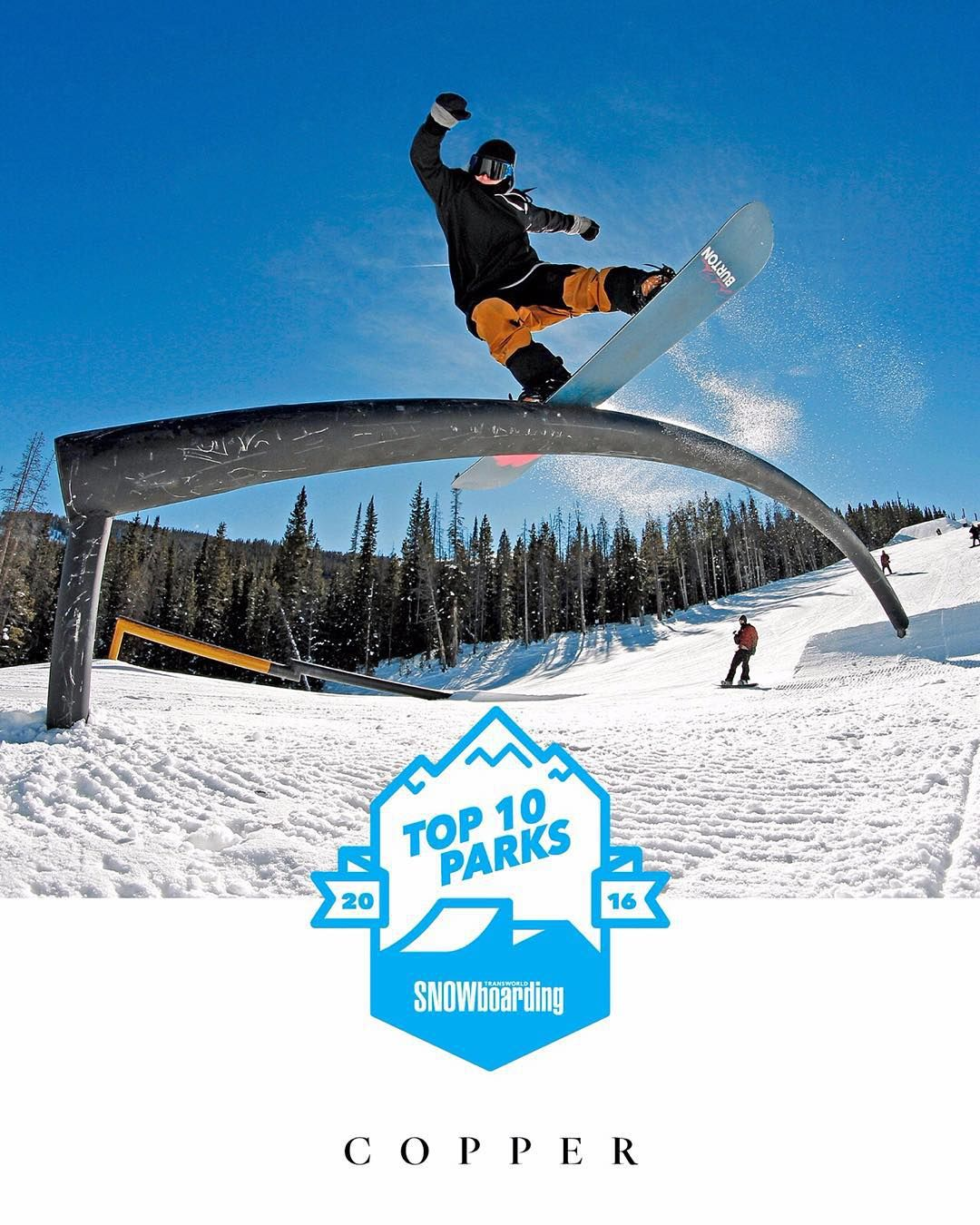 Not Only Is The Coppermtn Park Packed With Rails And Jumps There Are Also Three Halfpipes Beginner 13 Foot And Transworld Snowboarding Snowboarding Instagram
