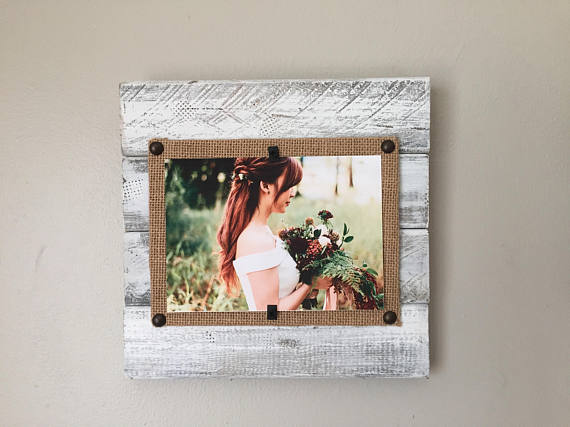 Pallet Picture Frame Reclaimed Wood Frame 4x6 5x7 Distressed