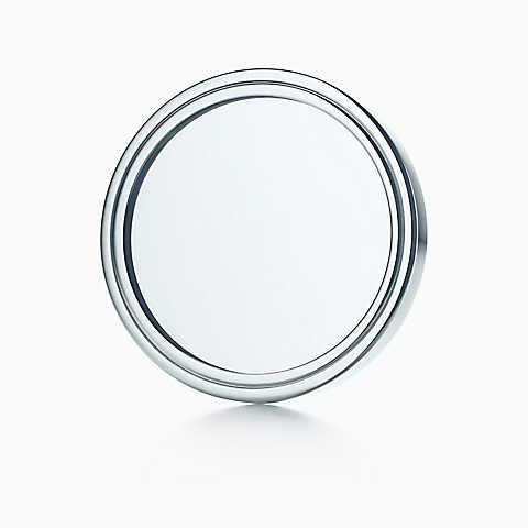 Tiffany 1837™ purse mirror in sterling silver with Tiffany Blue leather pouch.