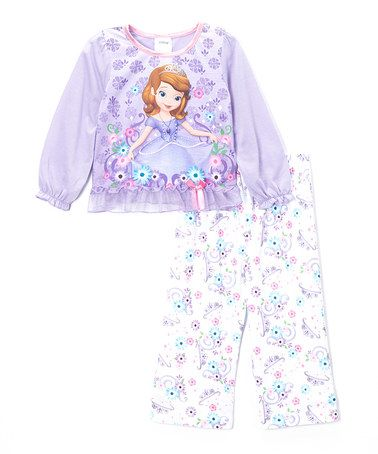 Look what I found on  zulily! Lavender Sofia the First Pajama Set - Toddler 694d28aaf