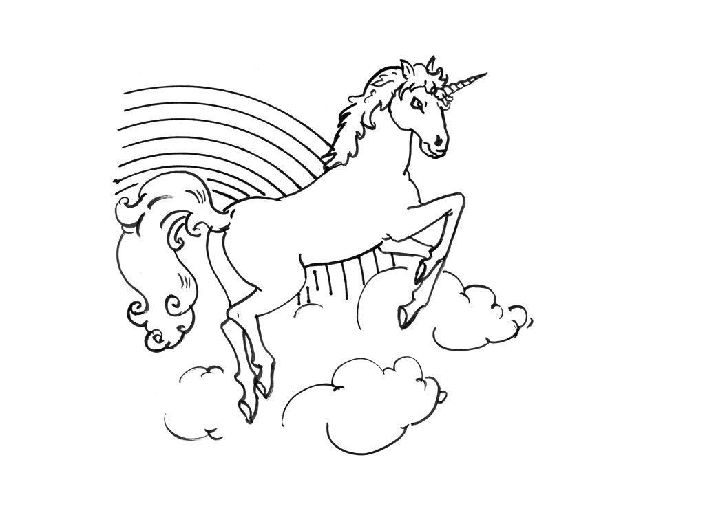 Coloriage Licorne A Colorier Dessin A Imprimer Art Sketches