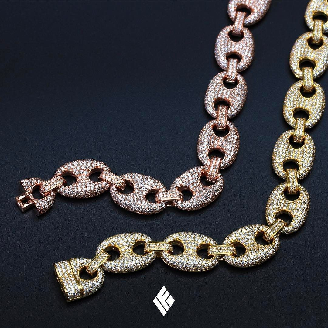 0a83c78b1 14kt Solid Diamond Gucci Link Bracelets available now on www.IFANDCO.com.  #GucciLink #CustomJewelry #IFANDCO