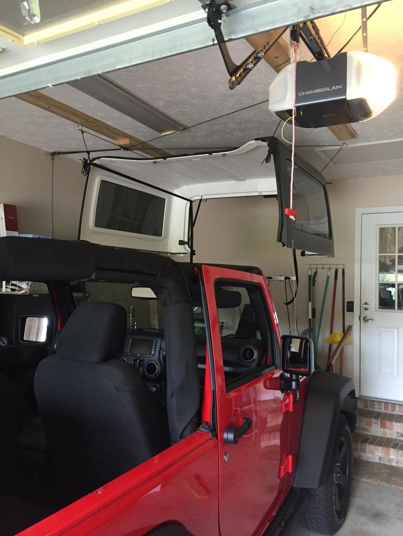 Harken Jeep Wrangler Hoister Garage Storage 4 Point Lift System 7803 Jeep Jeep Jeep Wrangler Garage Storage