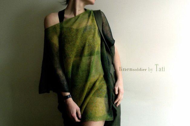 Bluza/ t shirt 100% linen by Tati - by-Tati - Tuniki