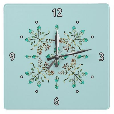 Roots & Leaves wall clock by SpontCombustion @zazzle