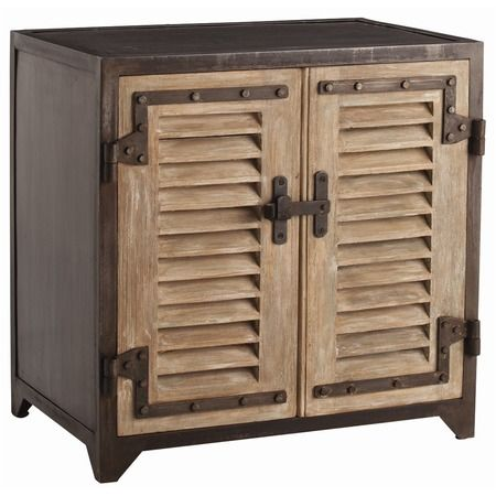 Lyon Industrial 2 Door Iron Cabinet In 2020 Arteriors Furniture Wood Shutters Cabinet Shelving