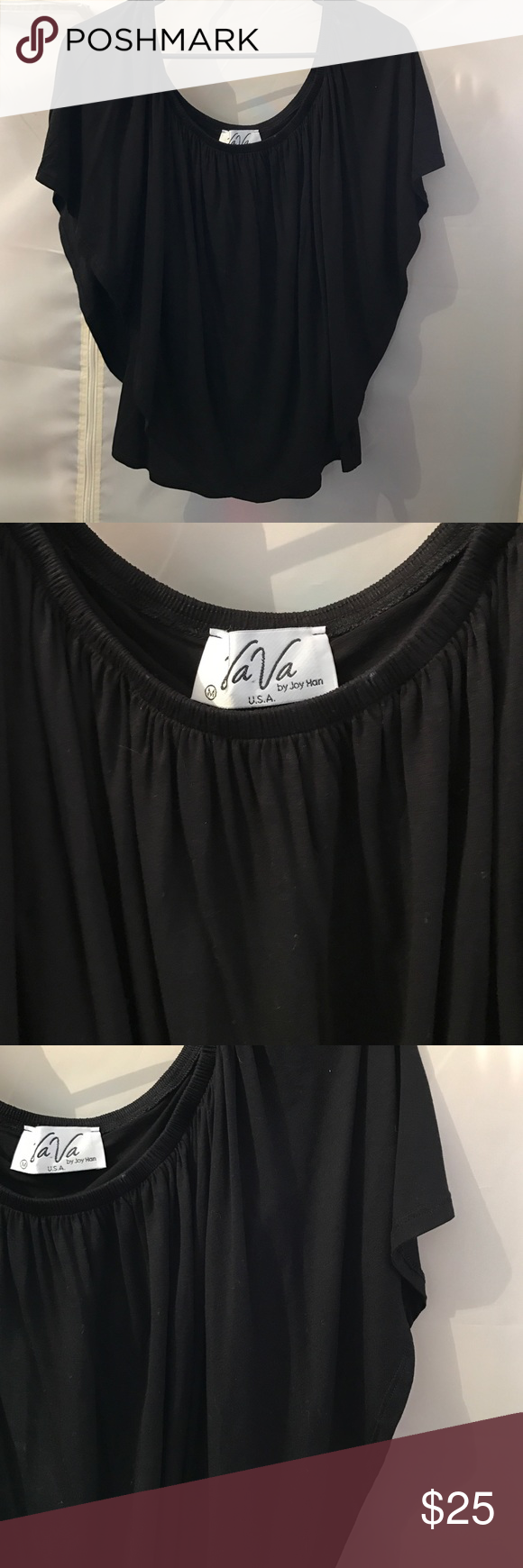 Va Va Triple Threat top for Boston Proper M NWOT black off the shoulder triple threat top by Va Va for Boston Proper. Can be worn three ways! Never worn. Viscose spandex fabrication- hand wash cold water. va va for Boston Proper Tops Blouses