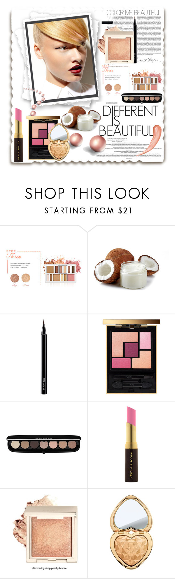 """""""Blonde Beauty!"""" by eco-art ❤ liked on Polyvore featuring beauty, BHCosmetics, MAC Cosmetics, Yves Saint Laurent, Marc Jacobs, Kevyn Aucoin and Too Faced Cosmetics"""