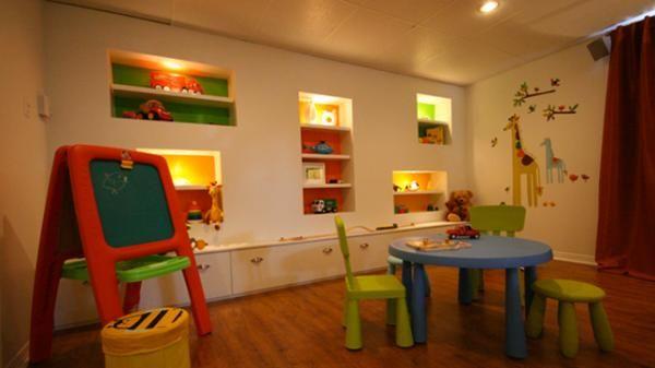 Un sous-sol qui comporte 3 zones   Sous-sols, Salles de jeux et ...