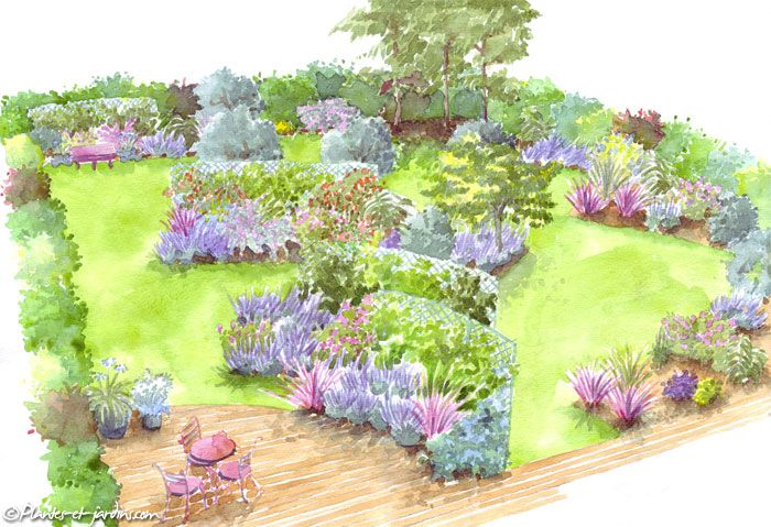 Le jardin des vents am nagement de jardin terrasses pinterest le vent jardin de et le jardin - Dessiner un jardin ...