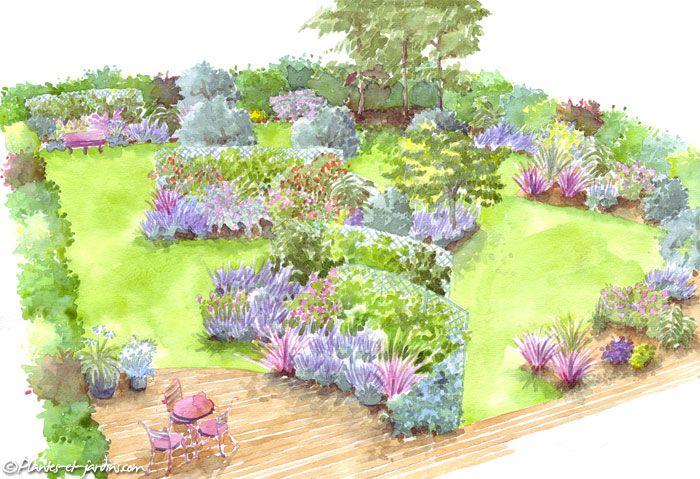 Le jardin des vents am nagement de jardin terrasses for Dessiner un jardin paysager