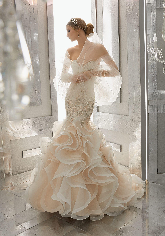 Mori Lee, 8189, Sz. 12, Ivory, $1,448 Available at Debra\'s Bridal ...