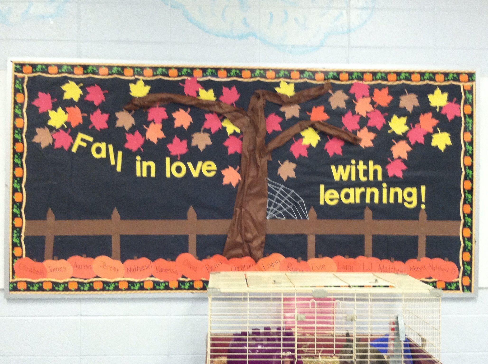 Fall bulletin board idea made for back to school night for Fall bulletin board ideas