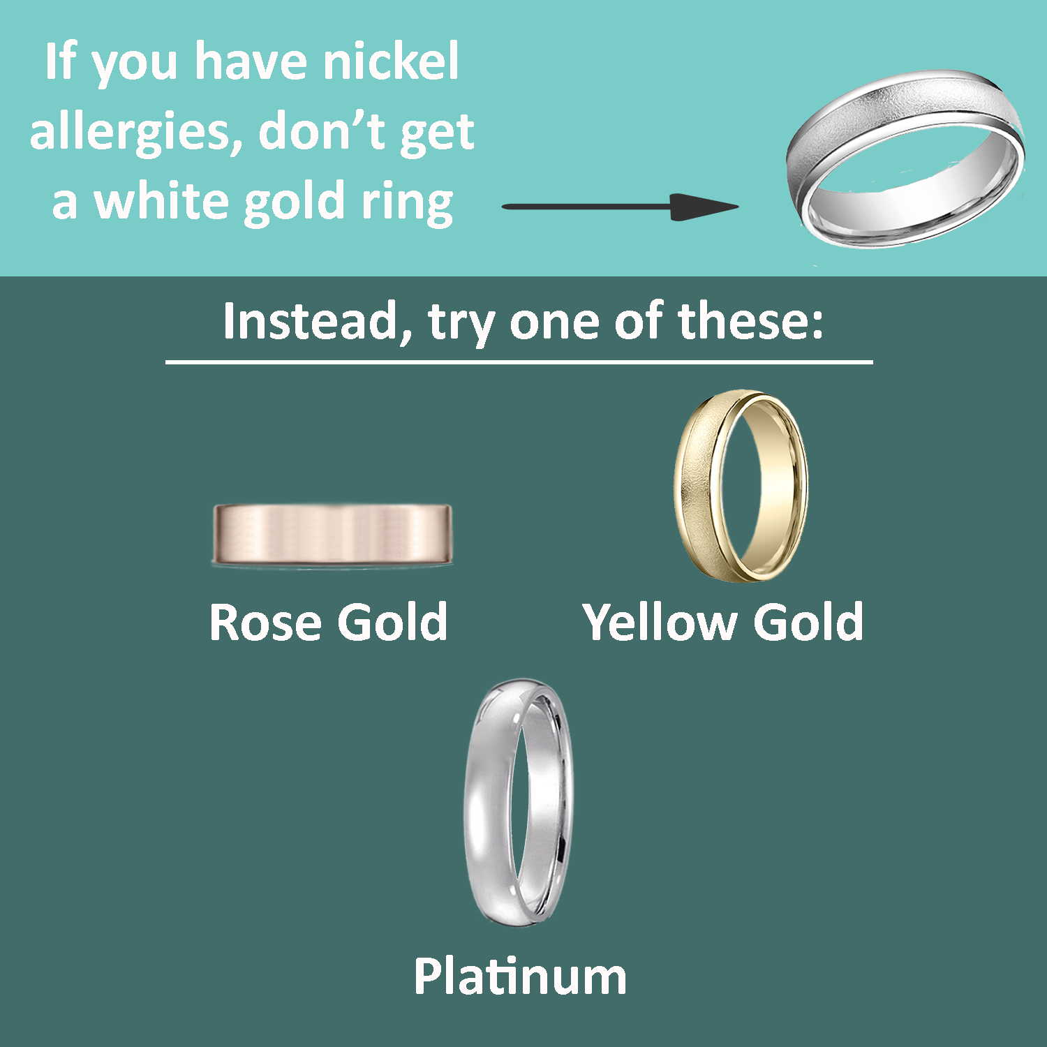 Are You Allergic To Your Wedding Ring Mens Wedding Bands Platinum Gold Vs Platinum Engagement Ring Wedding Band