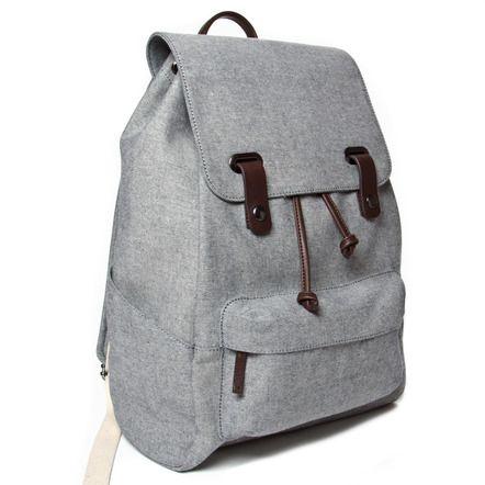 The Reverse-Denim Snap Backpack   Everlane