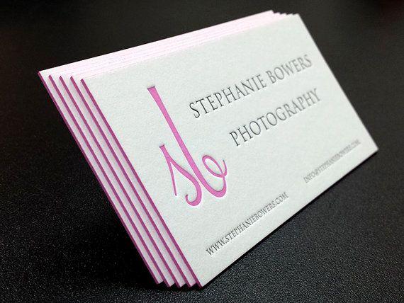 Letterpress business cards 100 2 colours 1 side color edges letterpress business cards etsy colourmoves