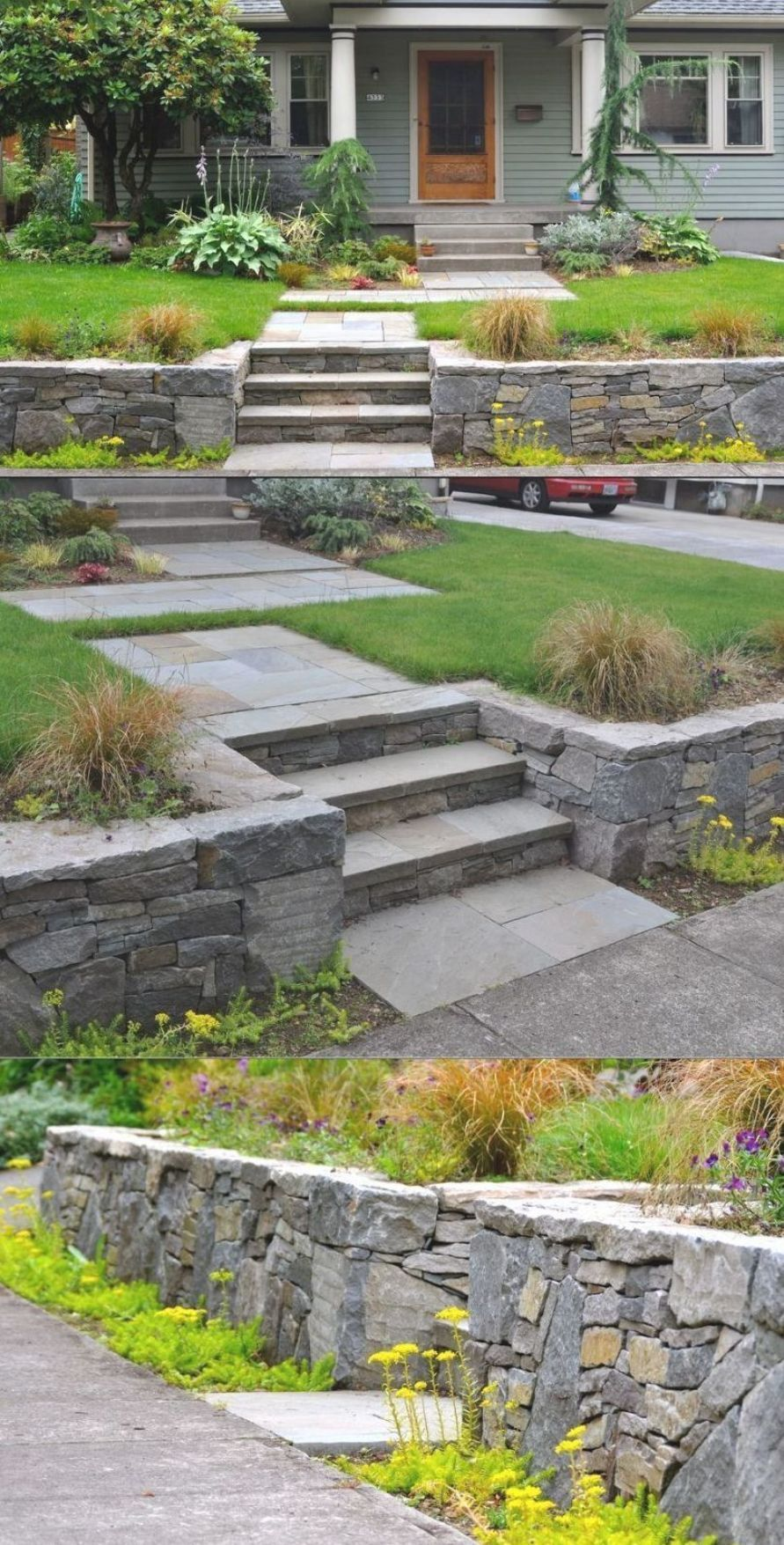25 Retaining Wall Ideas For Any Types Of Terrain And Landscapes In 2020 Retaining Wall Design Landscape Design Concrete Retaining Walls