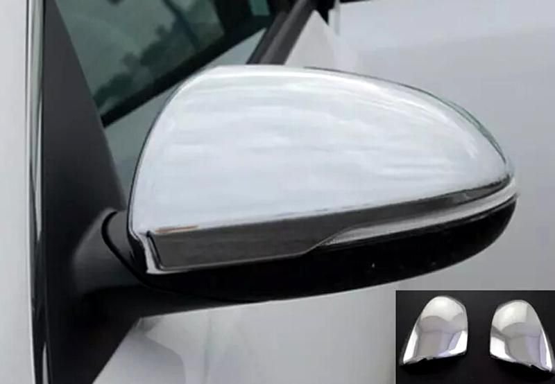 2pcs Chrome Glossy Side Door Mirrors Cover Trim For Kia Optima K5