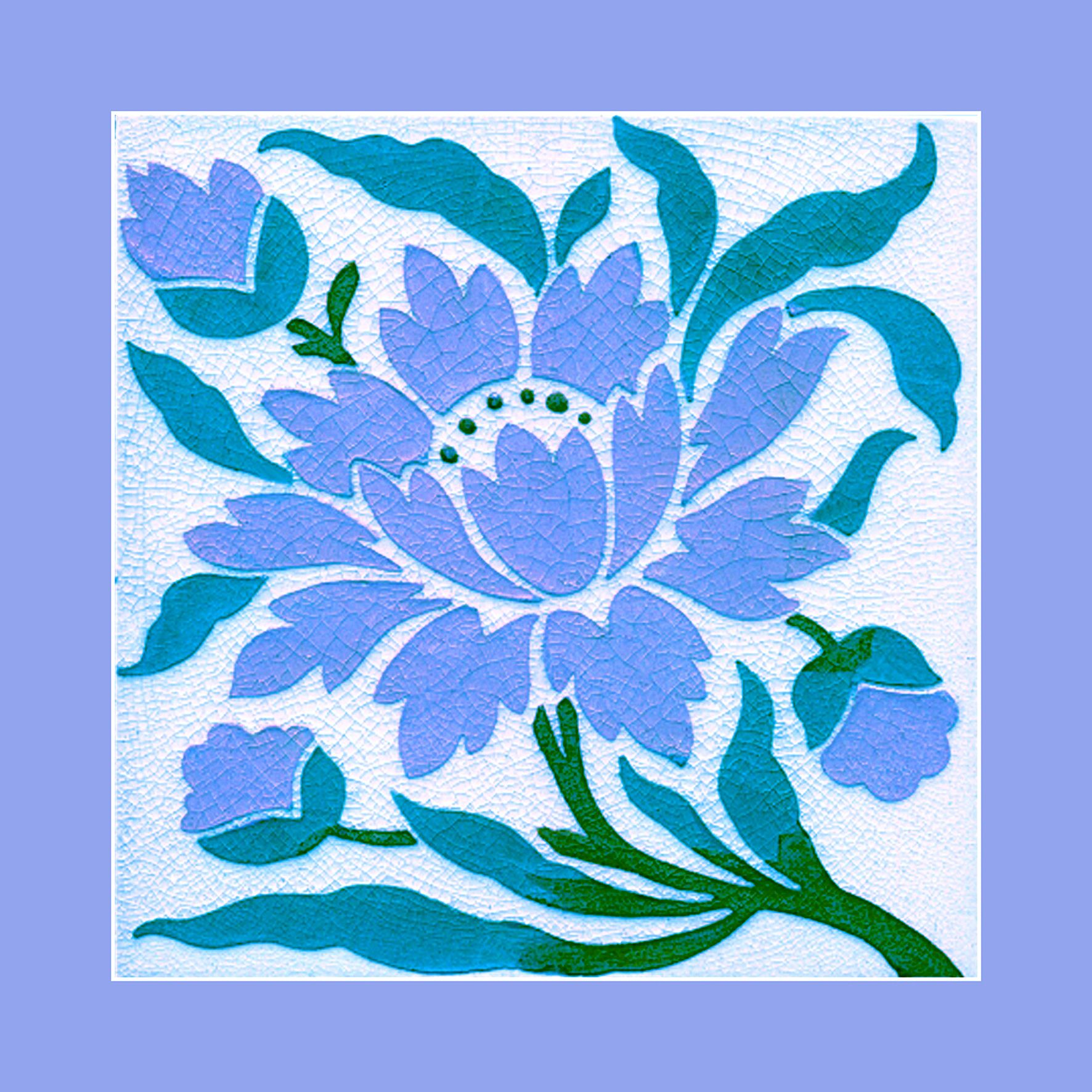 160 Art Nouveau tile by Lea & Bolton. Courtesy of Robert Smith from ...