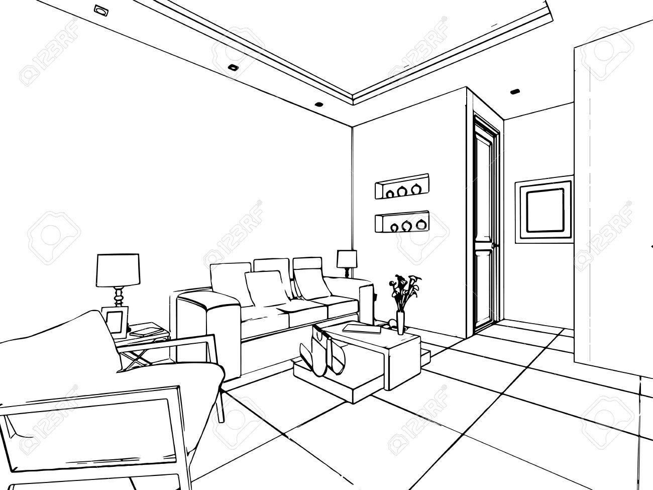 Stock Photo Architektur zeichnungen, Skizzen und Raum