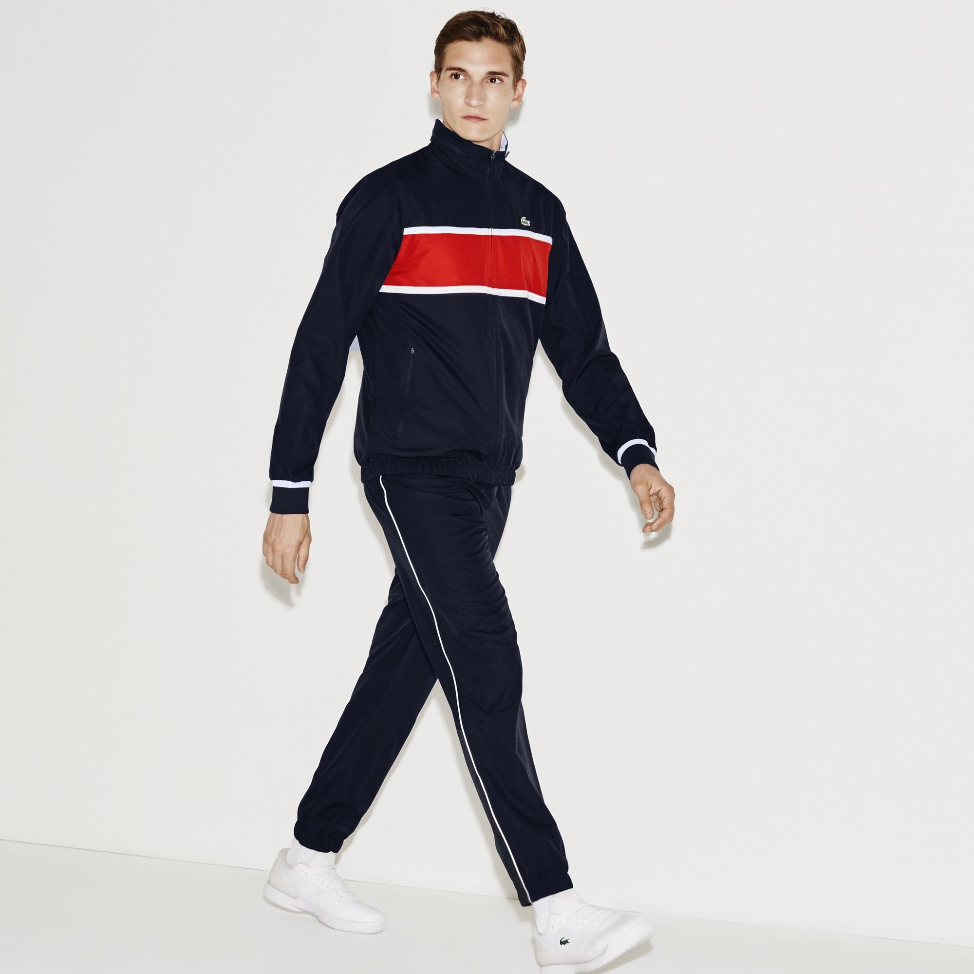 f9b4d330b LACOSTE Men s SPORT Colorblock Tennis Tracksuit - navy blue etna red.   lacoste  cloth
