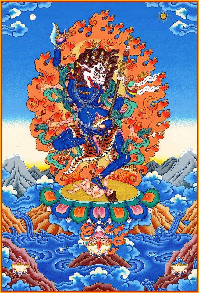 Симхамукха   Buddhist art, Tibetan art, Thangka