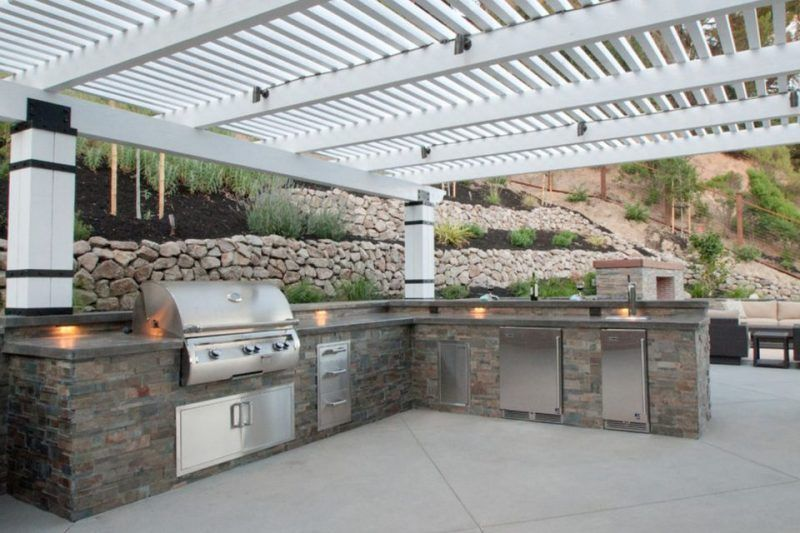 30 Outdoor Kitchen And Grill Inspiration For Any Area Outdoor Kitchen Countertops Outdoor Kitchen Design Outdoor Kitchen Grill