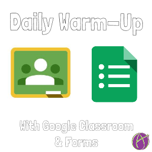 """If you give a daily warm-up, you can use Google Classroom to facilitate the administration. Create a generic Google Form. Link to the live Form view in the """"About"""" tab of Google Classro…"""