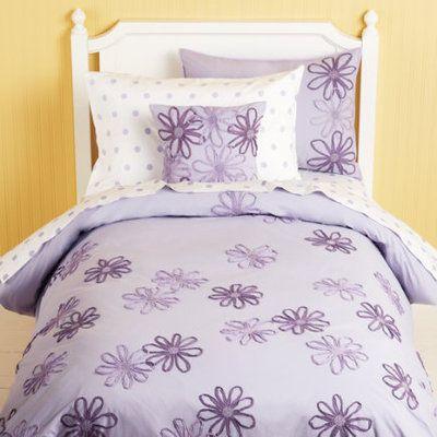 Girls Bedding Girls Purple Flower Bedding Comforter Set Twin Lavender Floral Duvet Cover By The Land Of Nod O Girl Beds Toddler Bed Girl Big Girl Bedrooms