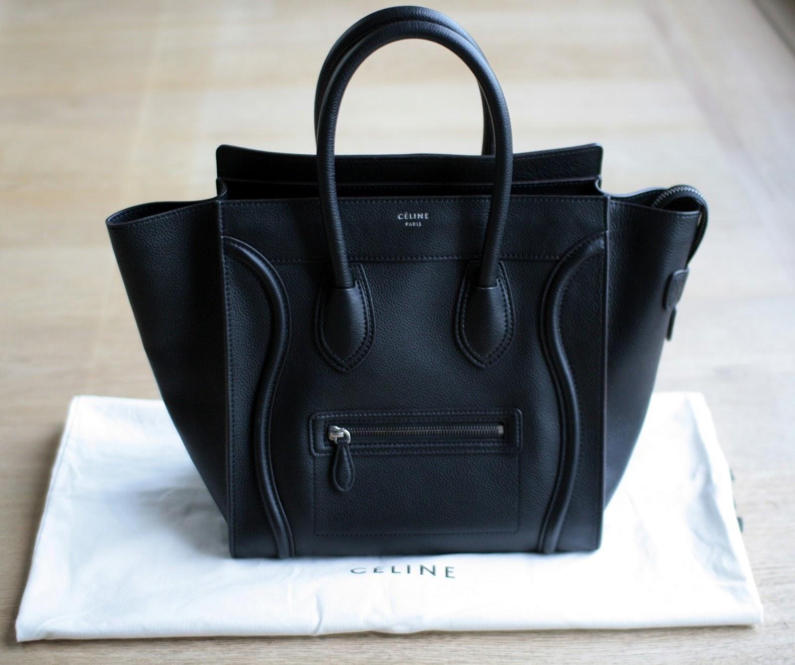 435f23718cfc Celine Mini Luggage Bag -- Black or a poppy colour