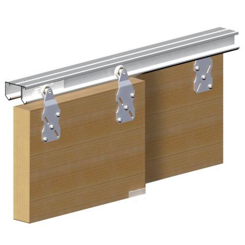 Système porte coulissante HORUS pour 2 portes de placard - rail 1,8