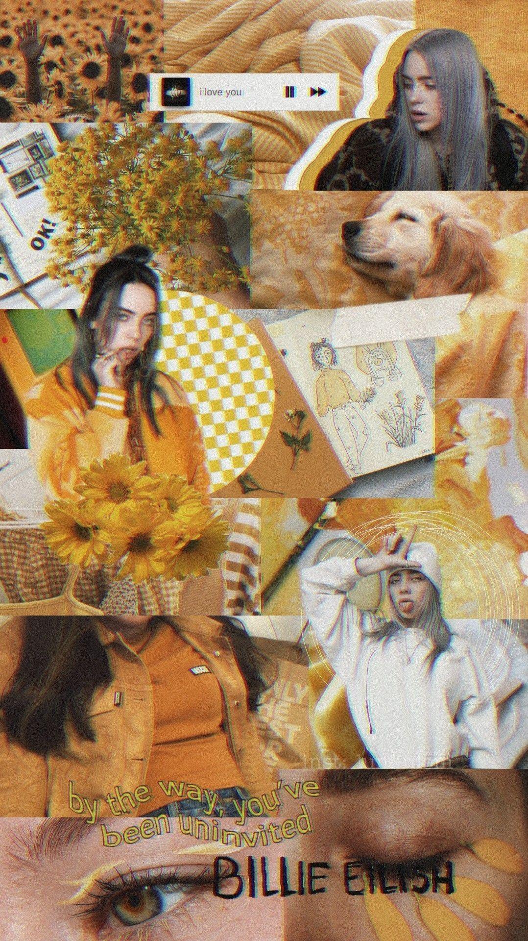 Billie Eilish yellow Обои
