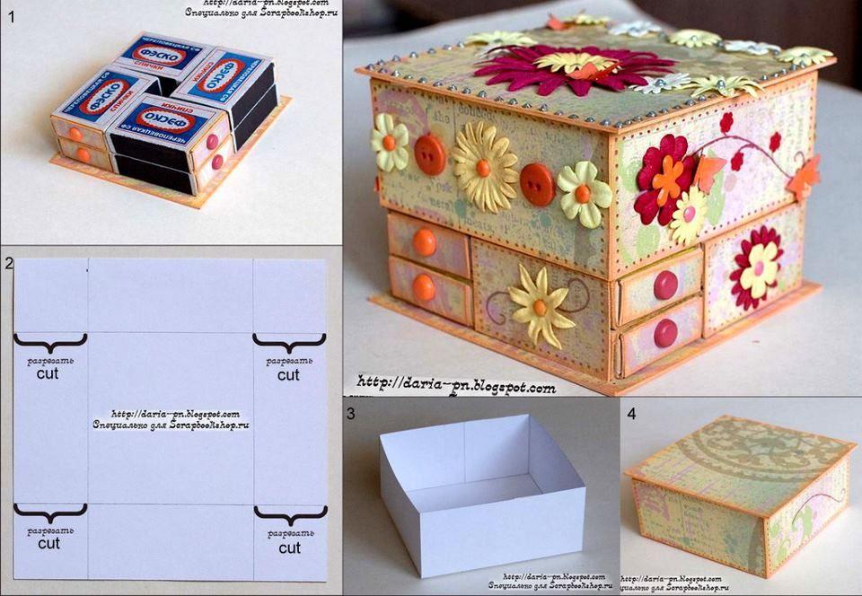 Ideas para decorar con cajitas de fósforos