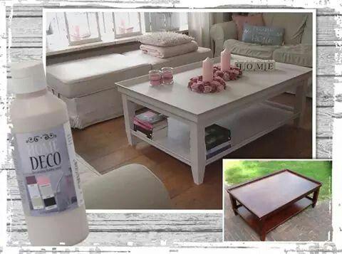 Salontafel met Home Deco verf vd Action bewerken  Huis