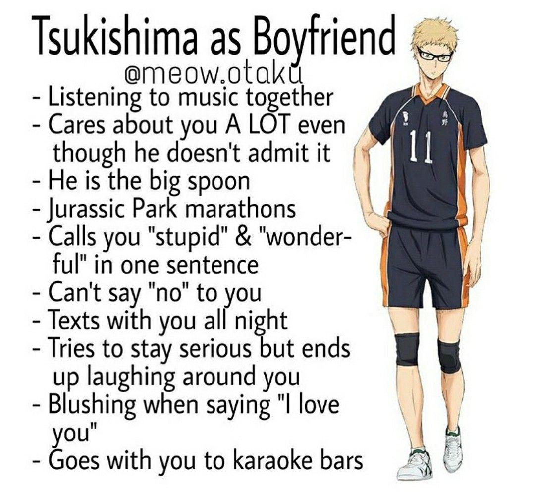 Pin By Heyooitsnicole On Haikyuu Anime Boyfriend Haikyuu Tsukishima Haikyuu Characters