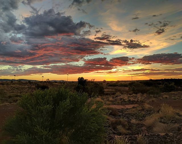 Mine life: Sometimes you have just go to stop and watch #yandi #clouds #cloudporn #summer #sunset #australia #outback #officeview #instapic #instagood #pixelpic