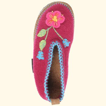 26eed3fda915af Giesswein Spital Flower Brombeer House Shoe (Women s) Slippers