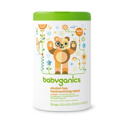 Babyganics 100 Count Alcohol Free Mandarin Hand Sanitizing Wipes