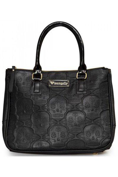 Sugar Skulls Embossed Gothic Handbag by Loungefly