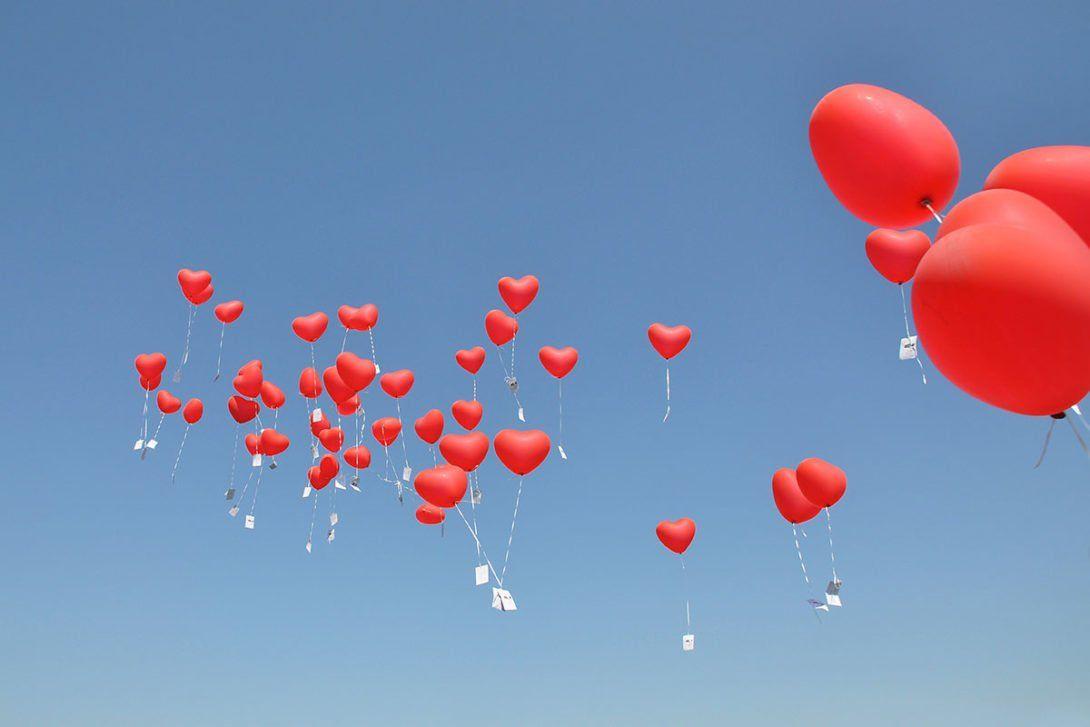 Ballons Steigen Lassen Zur Hochzeit Luftballons Hochzeit Ballons Hochzeit Ballone Steigen Lassen