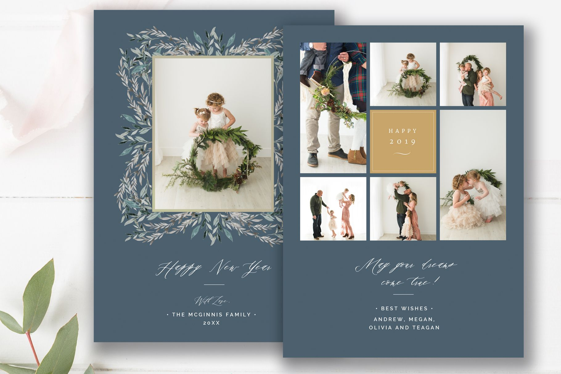 Happy New Years Photo Card Template Photoshop Templates For Photographers By Stephanie Design Photo Card Template Happy New Year Photo Photoshop Template Design