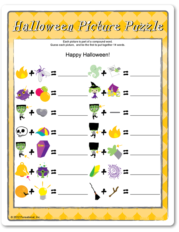 printable halloween party games for kids and games for adults - Halloween Word Game